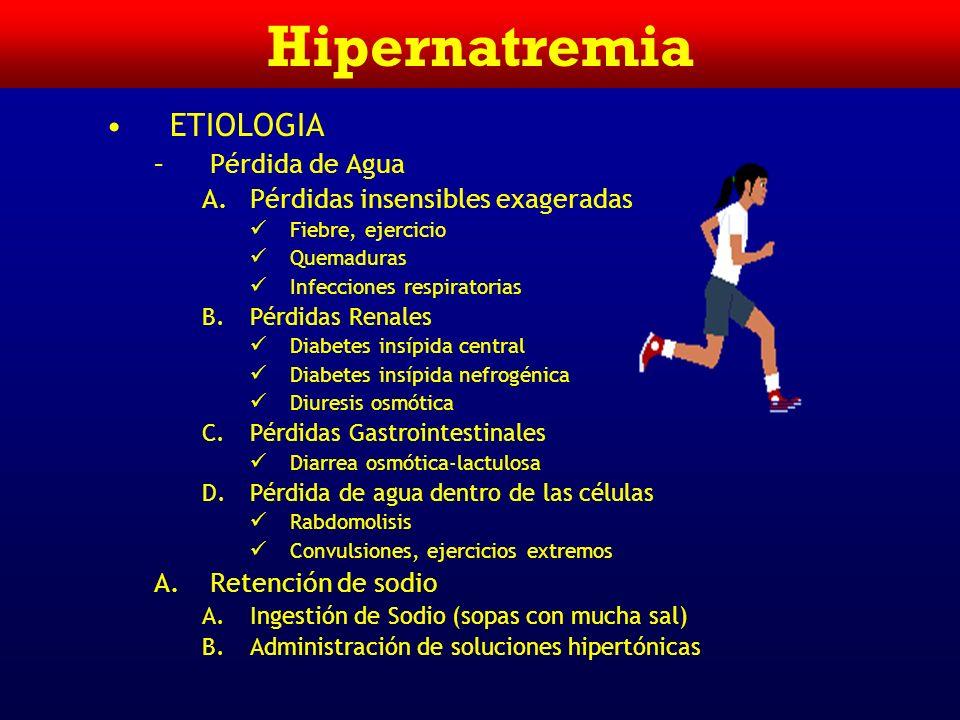 Hipernatremia ETIOLOGIA Pérdida de Agua