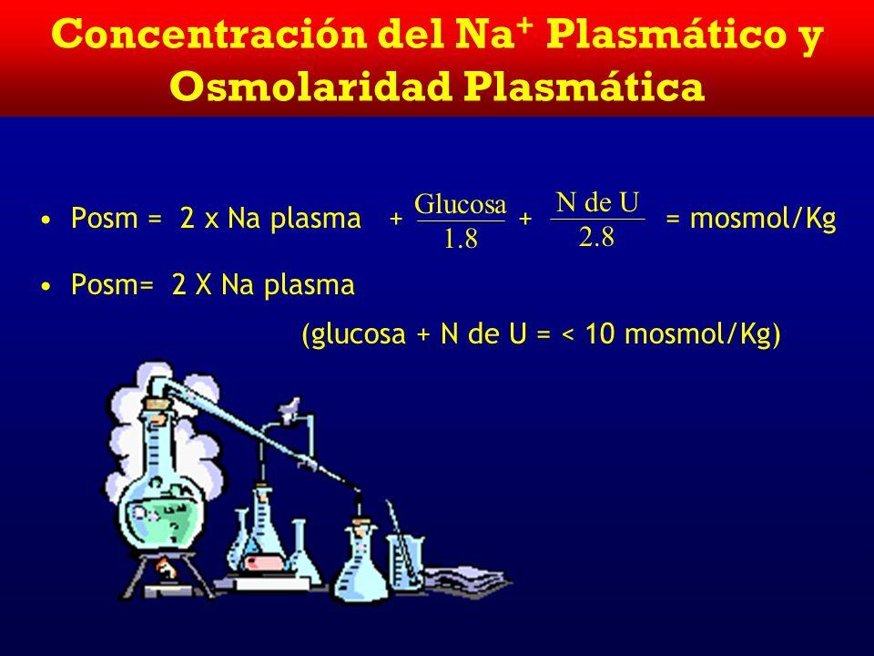 Concentración del Na+ Plasmático y Osmolaridad Plasmática