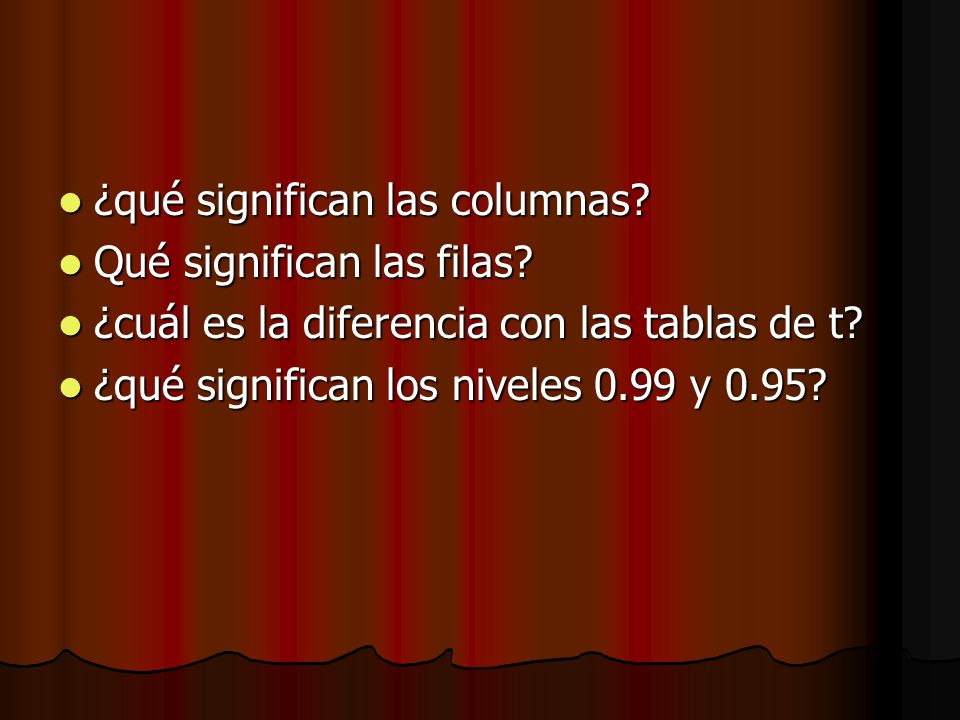 ¿qué significan las columnas