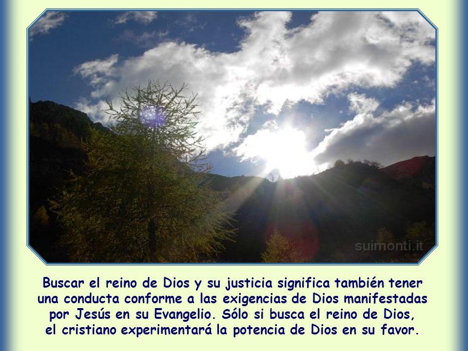 Buscar el reino de Dios y su justicia significa también tener