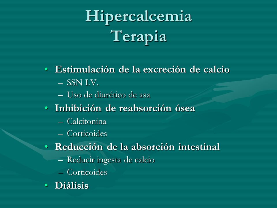 Hipercalcemia Terapia