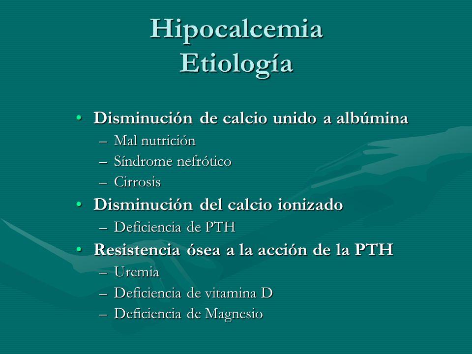 Hipocalcemia Etiología