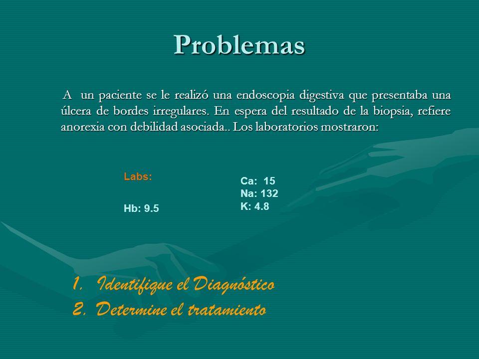 Problemas Identifique el Diagnóstico Determine el tratamiento