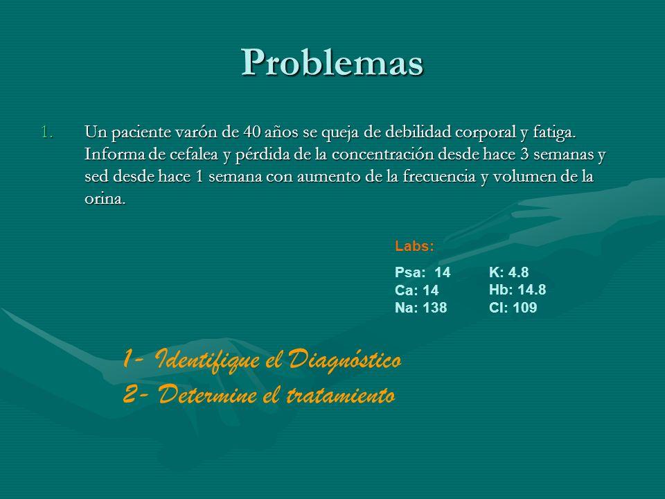 Problemas 1- Identifique el Diagnóstico 2- Determine el tratamiento