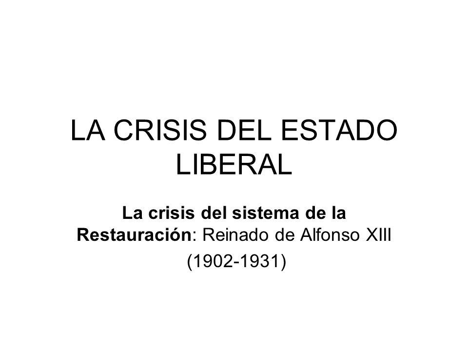 LA CRISIS DEL ESTADO LIBERAL