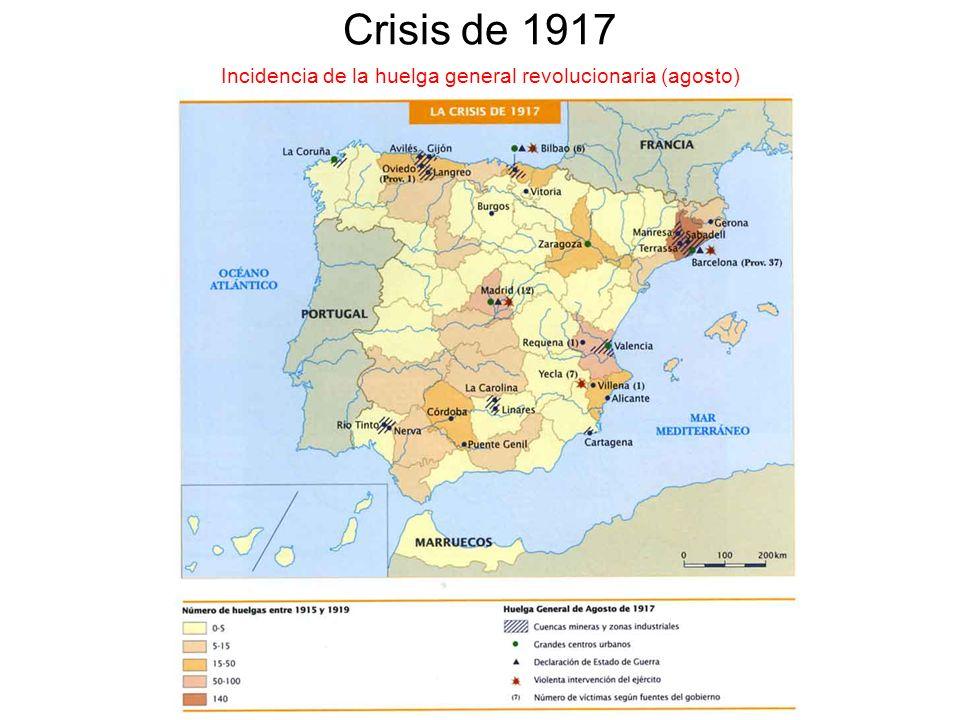 Incidencia de la huelga general revolucionaria (agosto)
