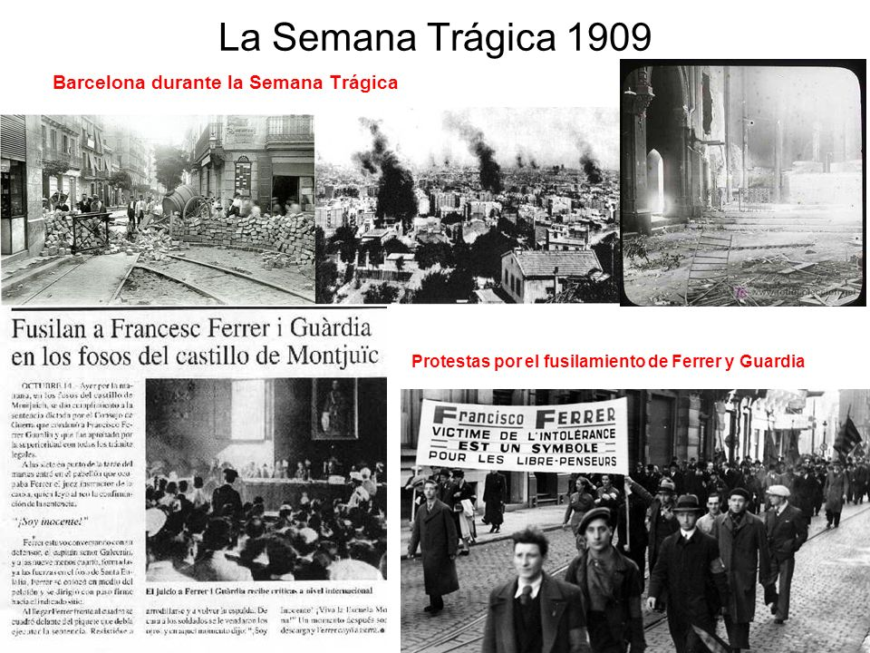 La Semana Trágica 1909 Barcelona durante la Semana Trágica