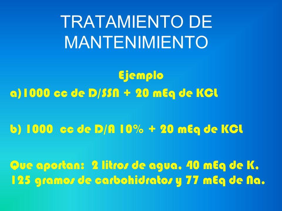 TRATAMIENTO DE MANTENIMIENTO
