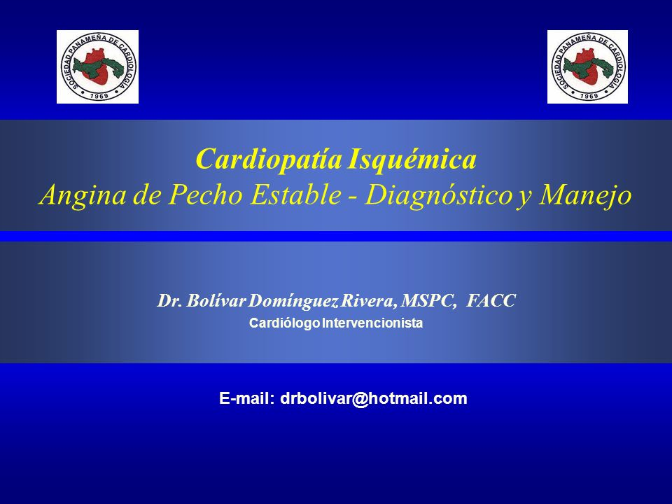 Cardiopatía Isquémica Angina de Pecho Estable - Diagnóstico y Manejo