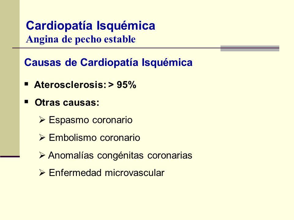 Causas de Cardiopatía Isquémica