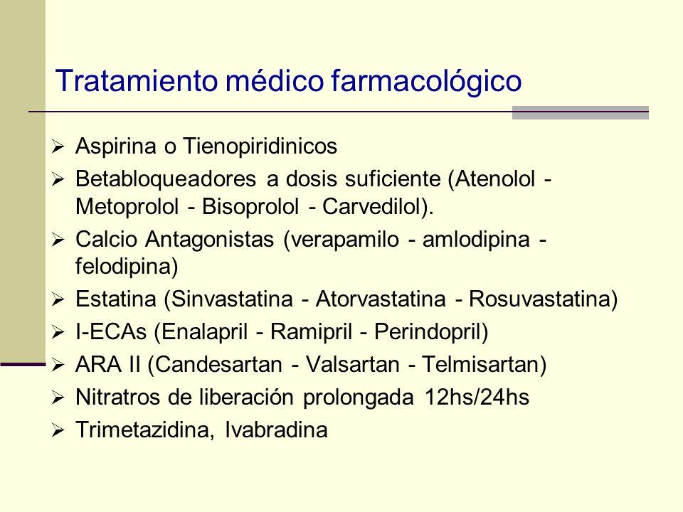 Tratamiento médico farmacológico