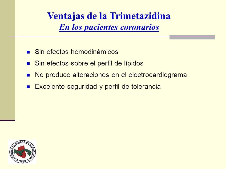 Ventajas de la Trimetazidina En los pacientes coronarios