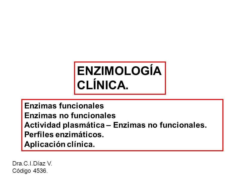 ENZIMOLOGÍA CLÍNICA. Enzimas funcionales Enzimas no funcionales