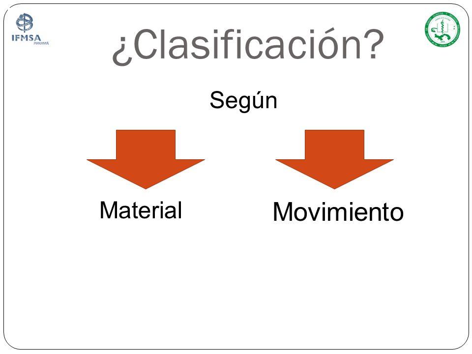 ¿Clasificación Según Material Movimiento