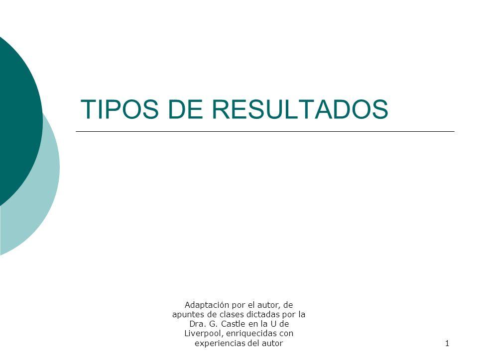 TIPOS DE RESULTADOS