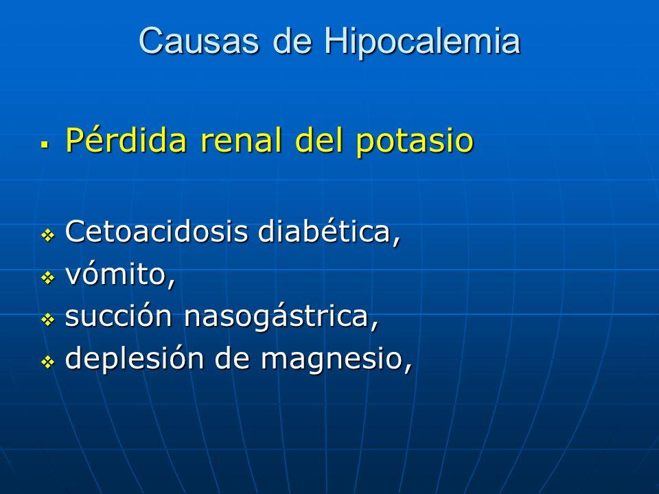 Causas de Hipocalemia Pérdida renal del potasio