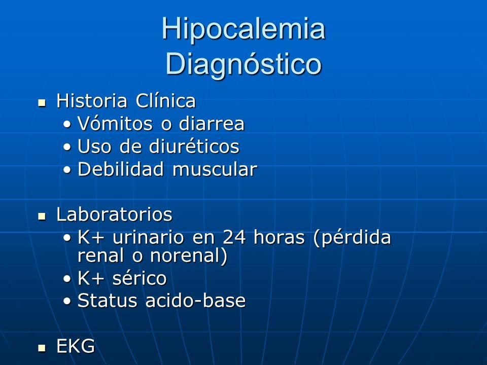 Hipocalemia Diagnóstico