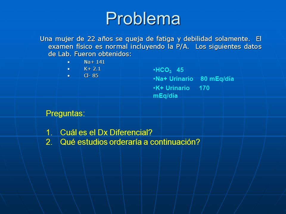 Problema Preguntas: Cuál es el Dx Diferencial