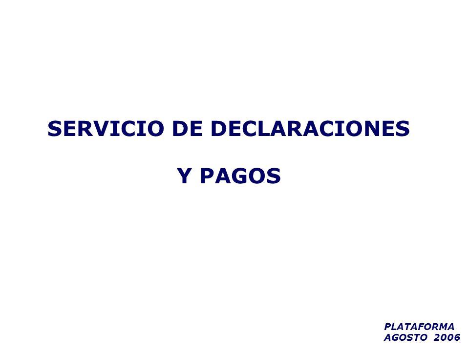 SERVICIO DE DECLARACIONES