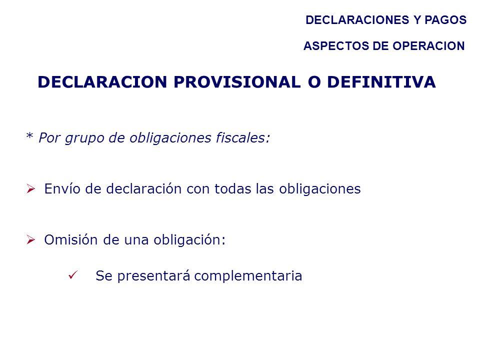 DECLARACION PROVISIONAL O DEFINITIVA