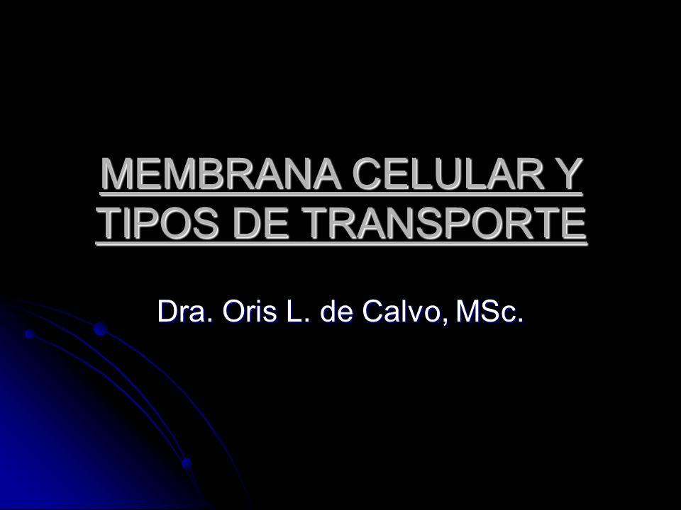 MEMBRANA CELULAR Y TIPOS DE TRANSPORTE