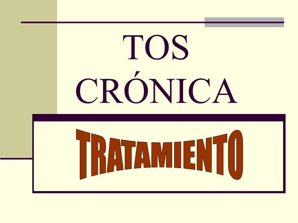 TOS CRÓNICA TRATAMIENTO