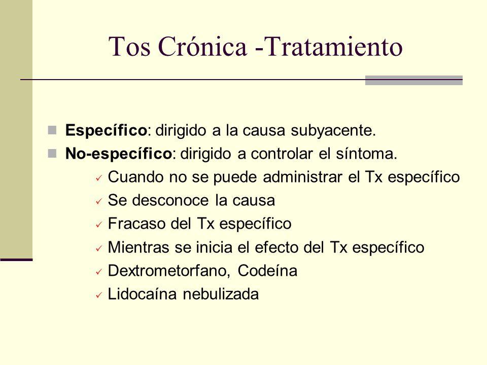 Tos Crónica -Tratamiento