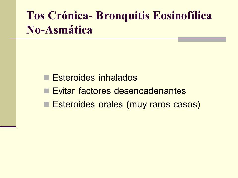 Tos Crónica- Bronquitis Eosinofílica No-Asmática
