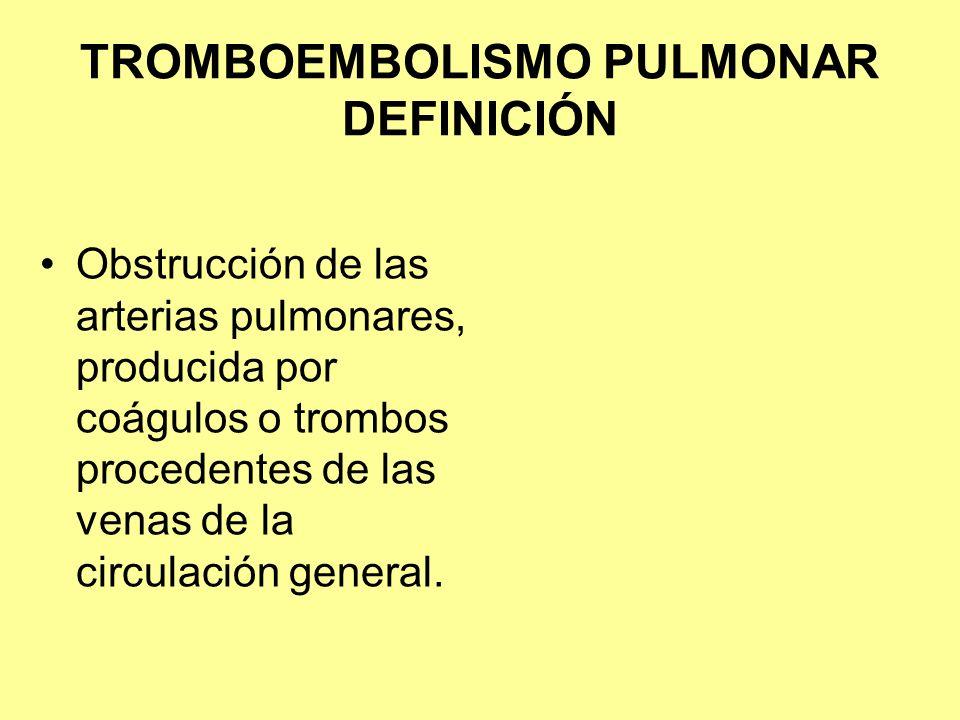 TROMBOEMBOLISMO PULMONAR DEFINICIÓN