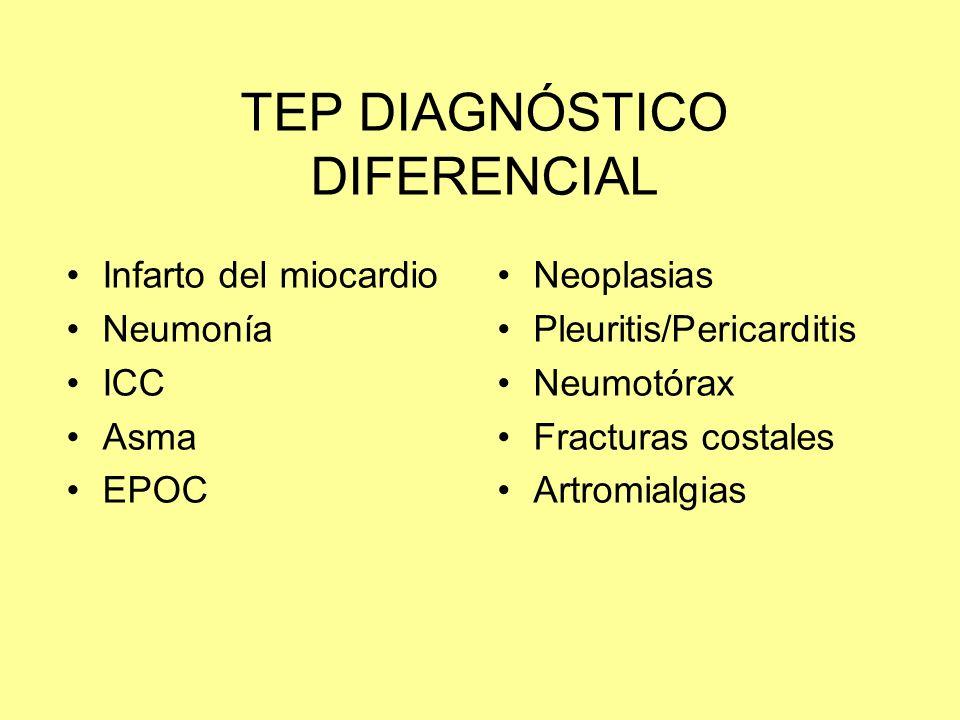 TEP DIAGNÓSTICO DIFERENCIAL