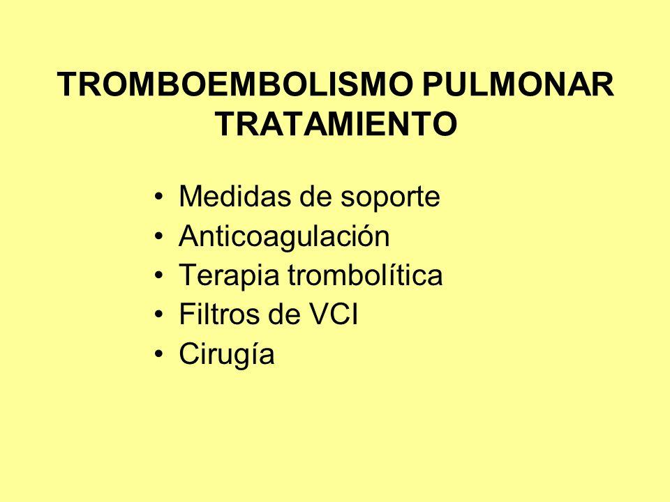 TROMBOEMBOLISMO PULMONAR TRATAMIENTO