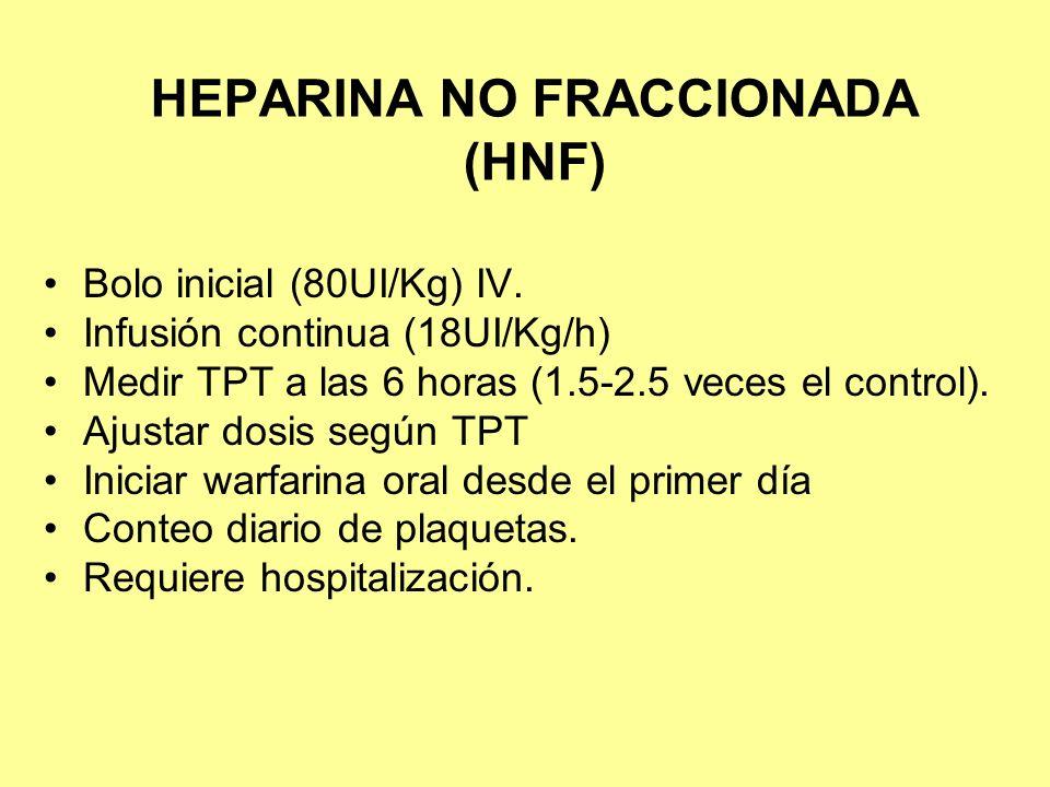 HEPARINA NO FRACCIONADA (HNF)