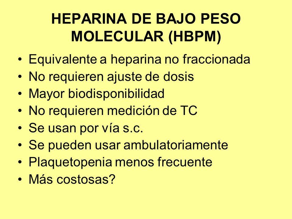 HEPARINA DE BAJO PESO MOLECULAR (HBPM)
