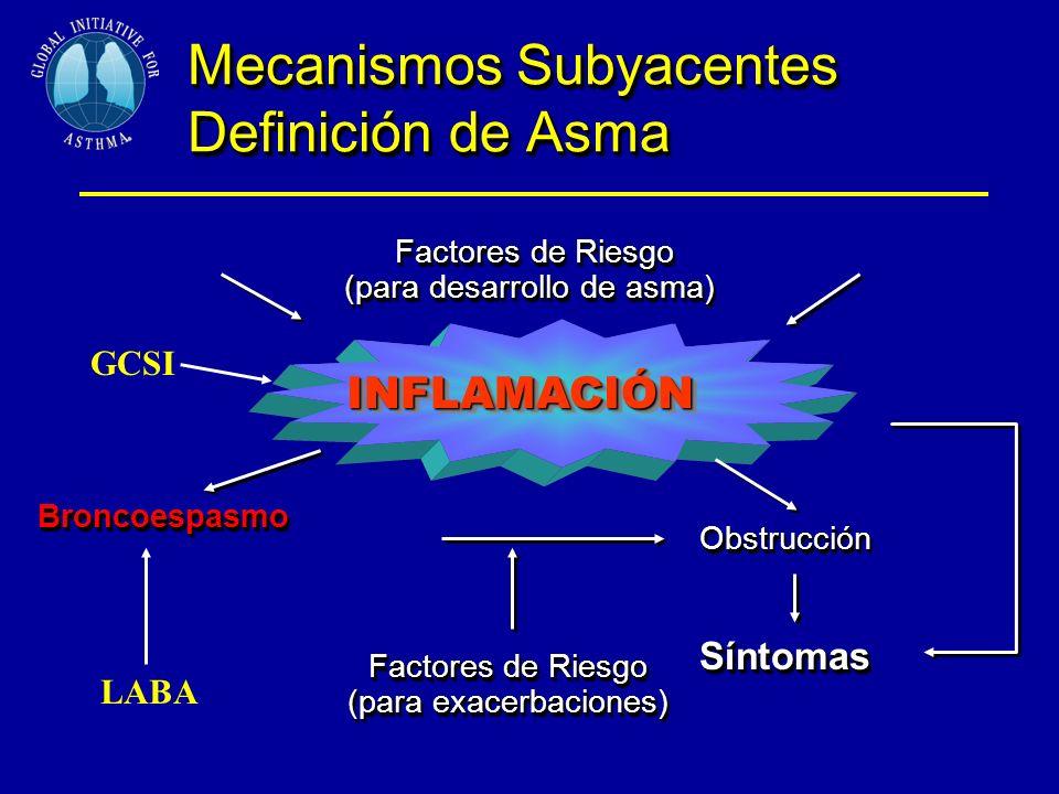Mecanismos Subyacentes Definición de Asma