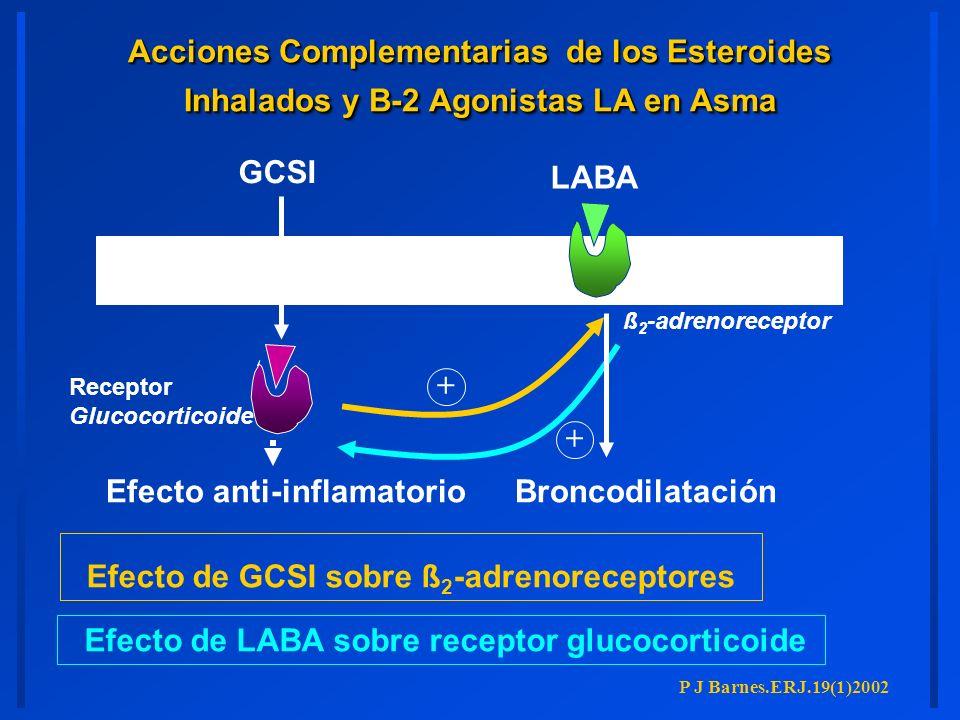 Efecto anti-inflamatorio LABA