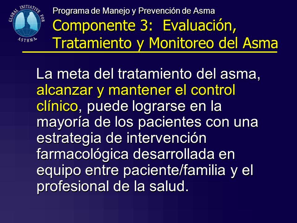 Programa de Manejo y Prevención de Asma Componente 3: Evaluación, Tratamiento y Monitoreo del Asma