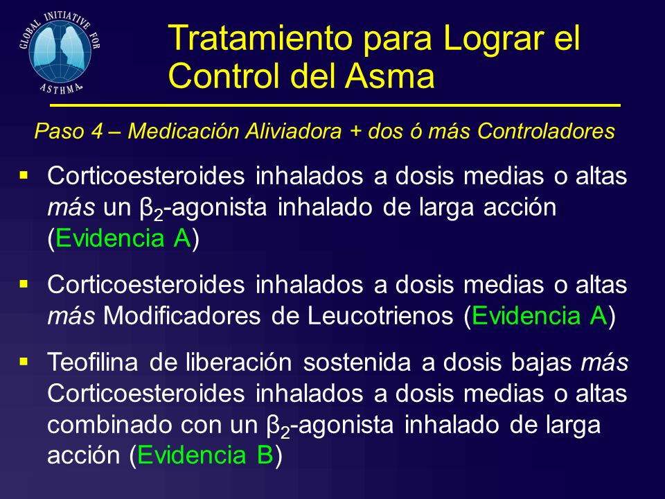 Paso 4 – Medicación Aliviadora + dos ó más Controladores