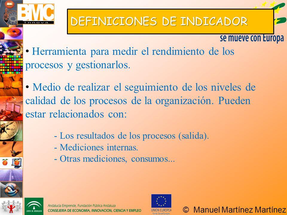 DEFINICIONES DE INDICADOR