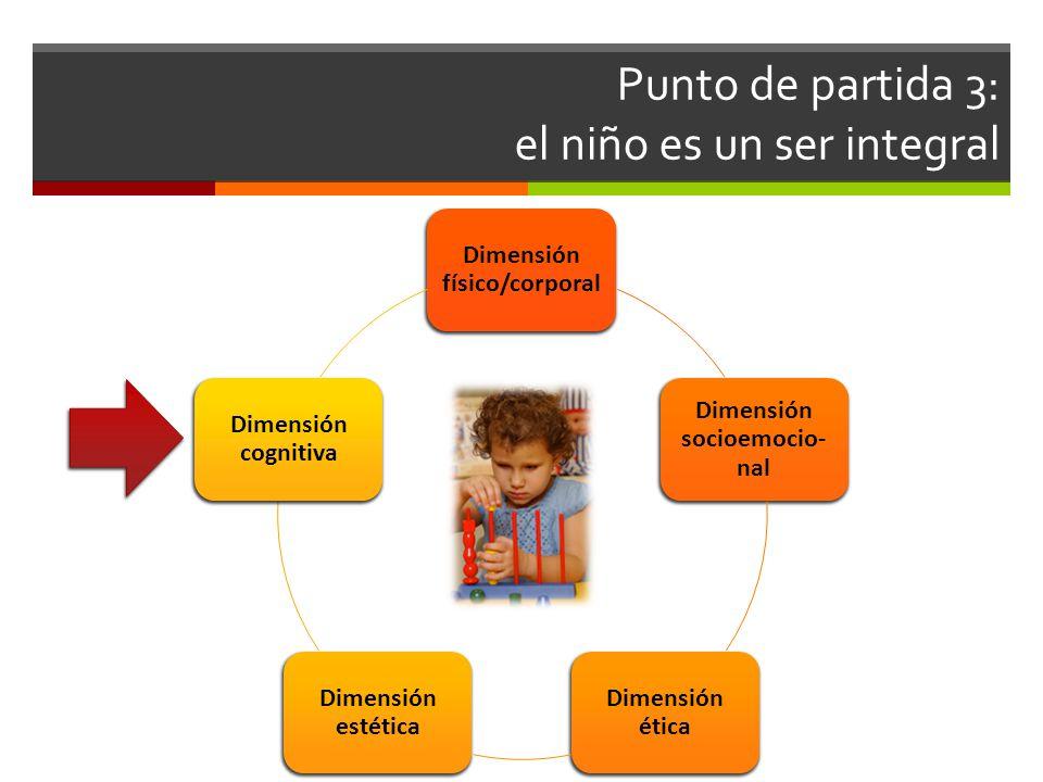 Punto de partida 3: el niño es un ser integral