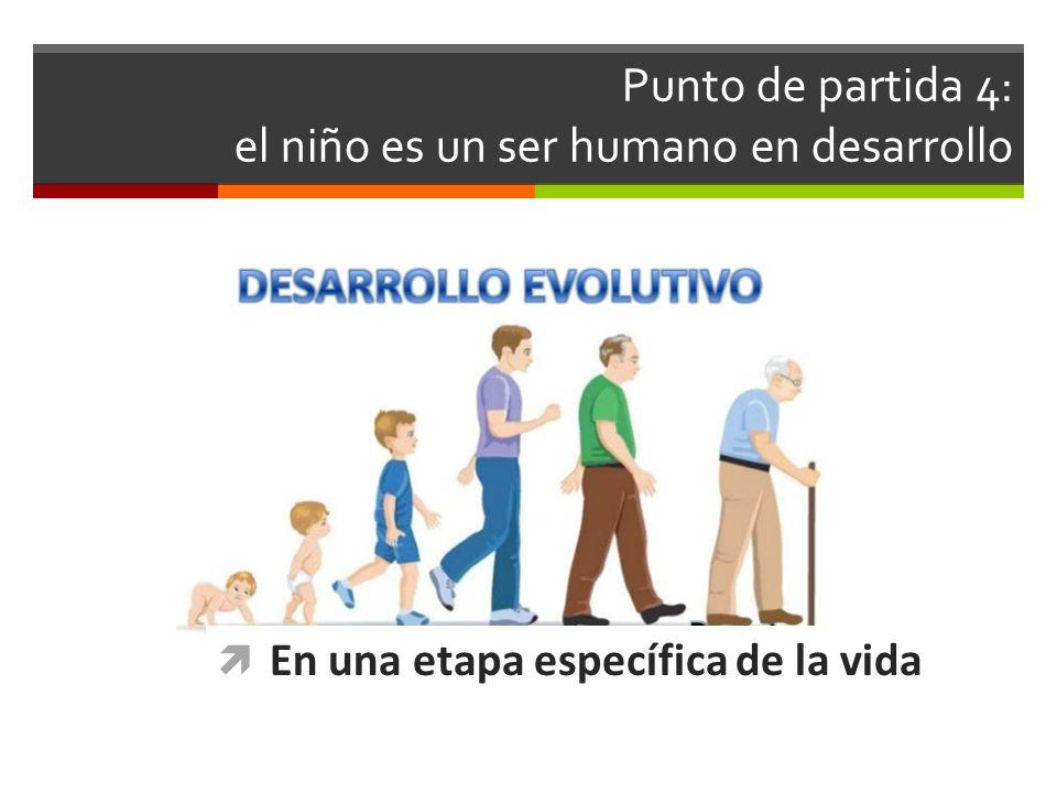 Punto de partida 4: el niño es un ser humano en desarrollo