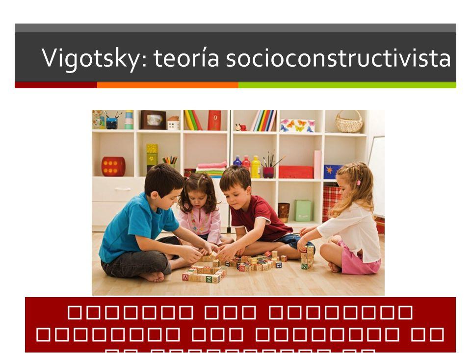 Vigotsky: teoría socioconstructivista