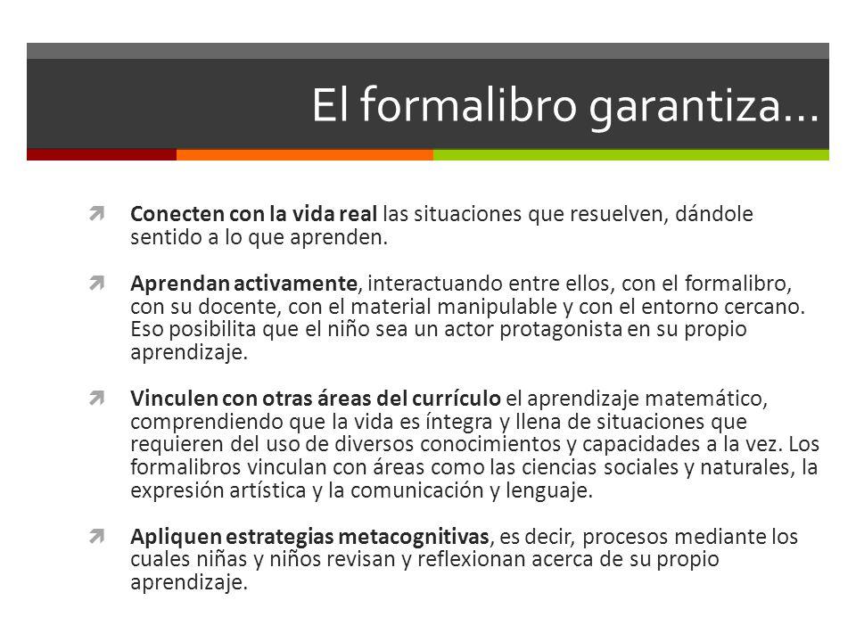El formalibro garantiza…