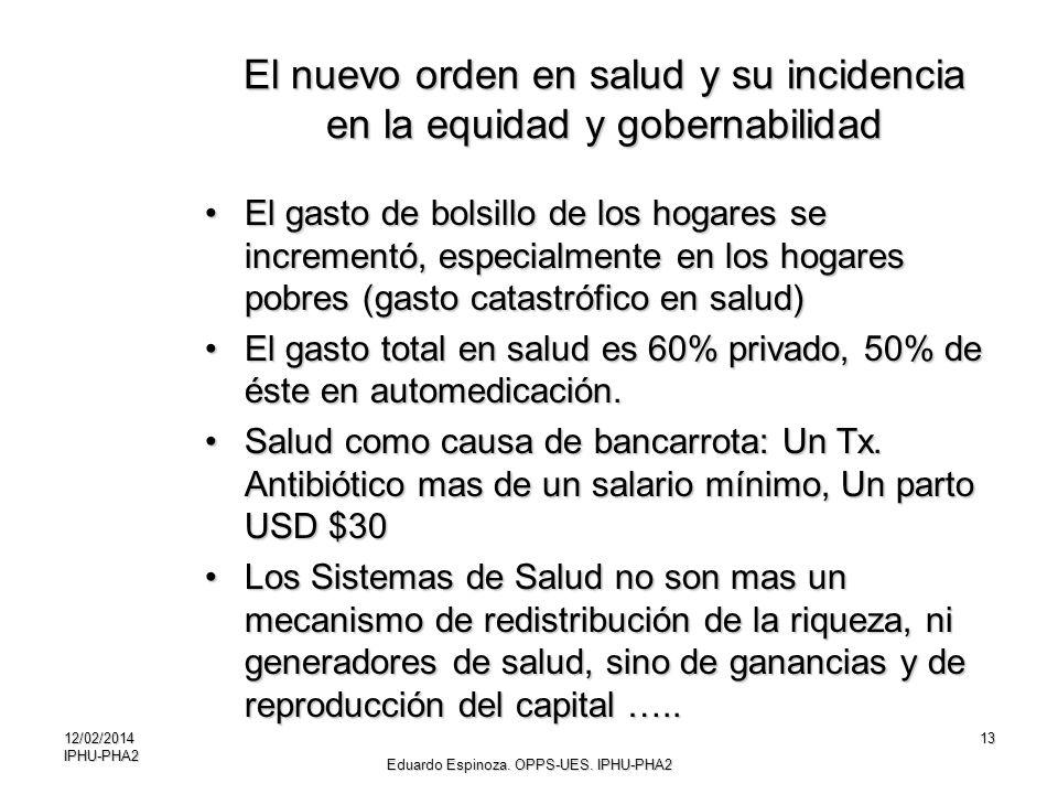El nuevo orden en salud y su incidencia en la equidad y gobernabilidad