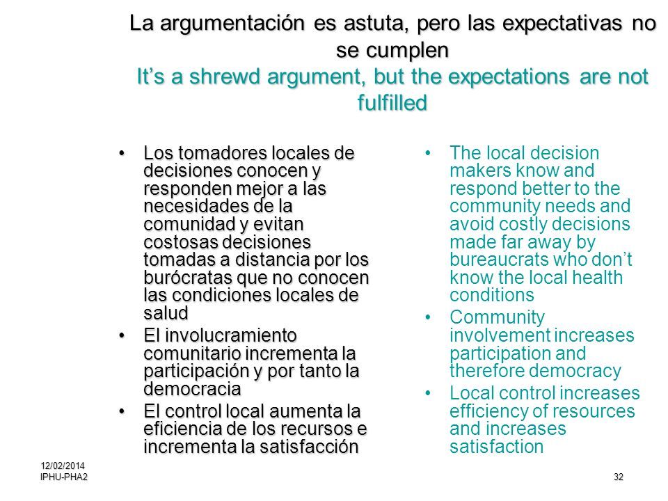 La argumentación es astuta, pero las expectativas no se cumplen It's a shrewd argument, but the expectations are not fulfilled