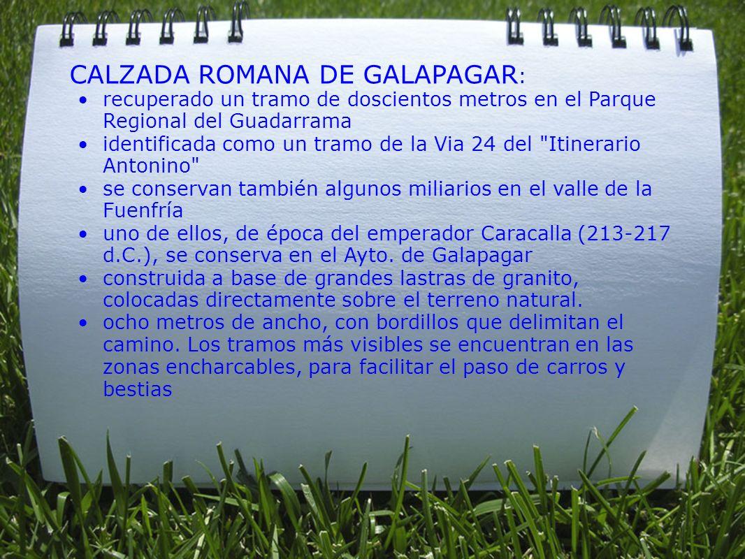 CALZADA ROMANA DE GALAPAGAR: