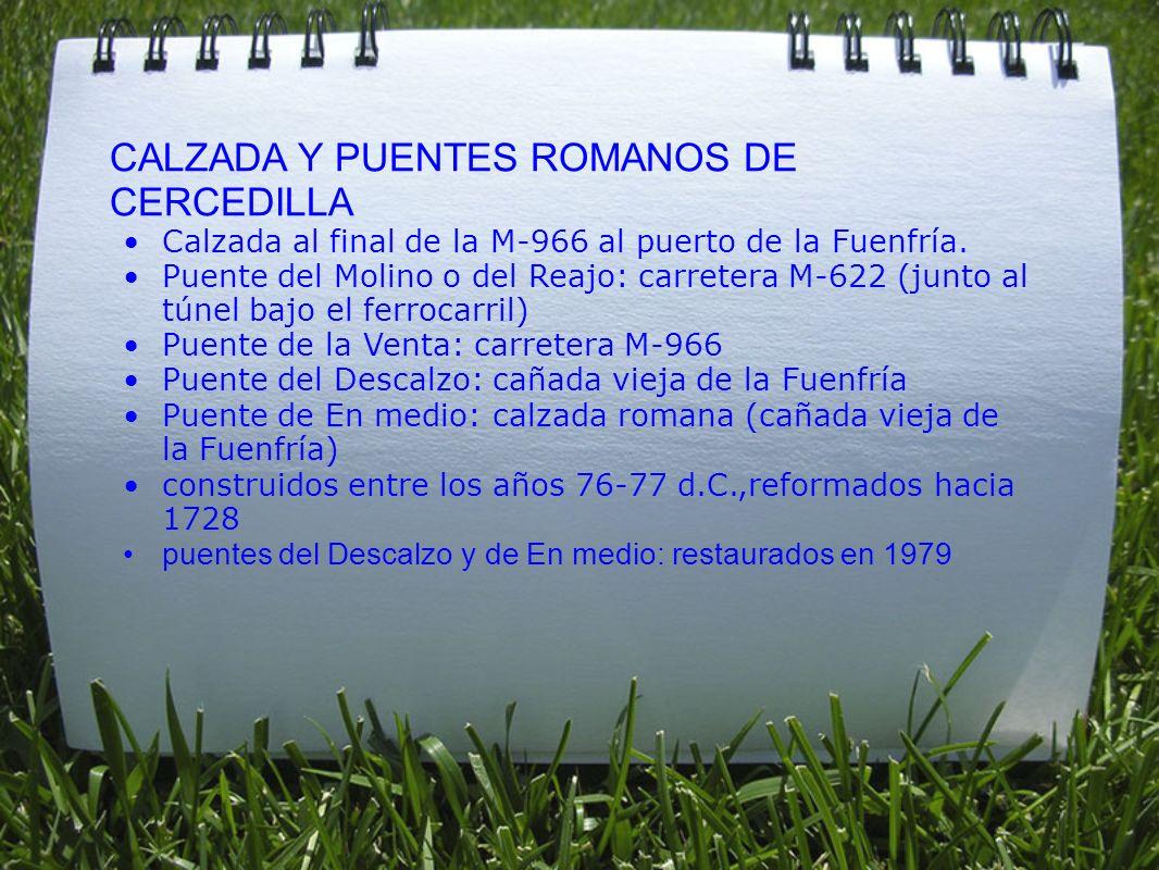 CALZADA Y PUENTES ROMANOS DE CERCEDILLA
