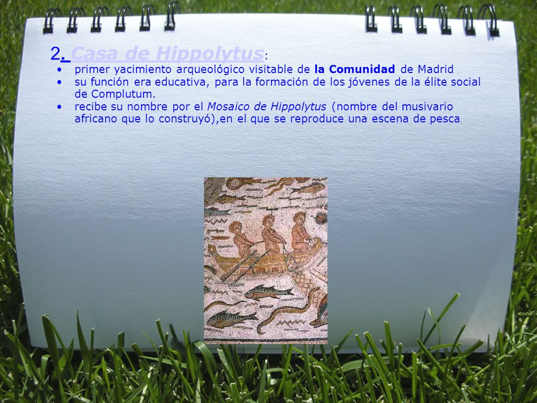 2. Casa de Hippolytus: primer yacimiento arqueológico visitable de la Comunidad de Madrid.