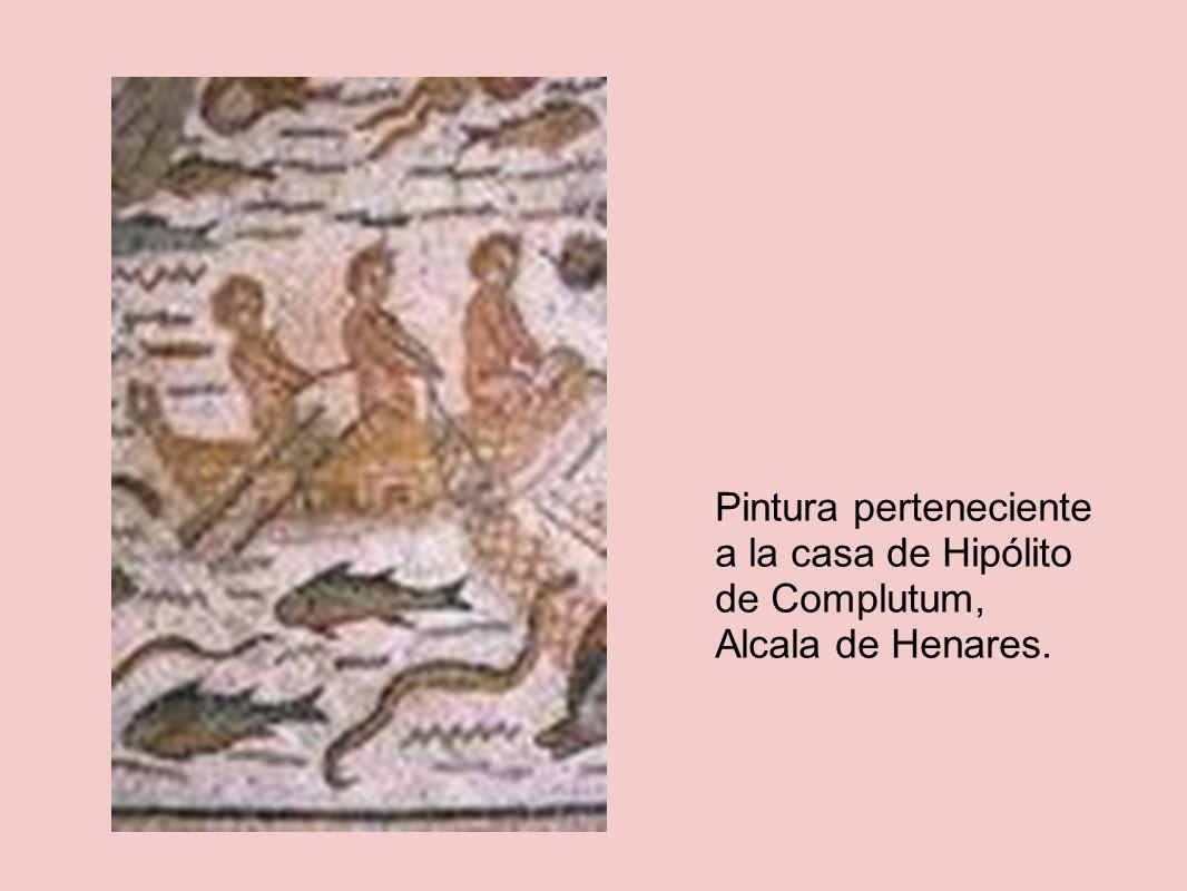 Pintura perteneciente a la casa de Hipólito de Complutum, Alcala de Henares.