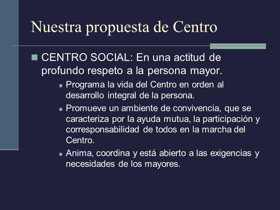 Nuestra propuesta de Centro