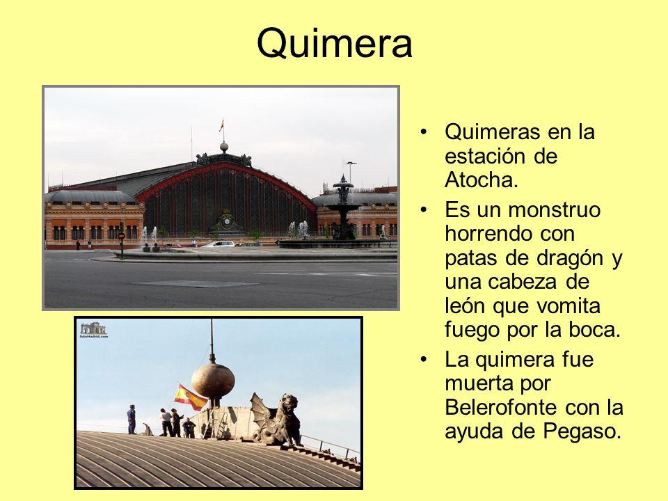 Quimera Quimeras en la estación de Atocha.
